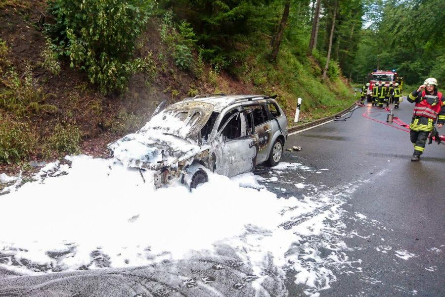 Autobrand auf S 213