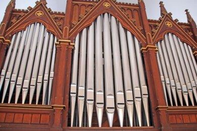 Die Eule-Orgel in der Kirche von Conradsdorf.
