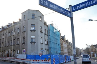 Dieses Jahr sollen diese Gebäude an der Schlachthofstraße verschwinden.