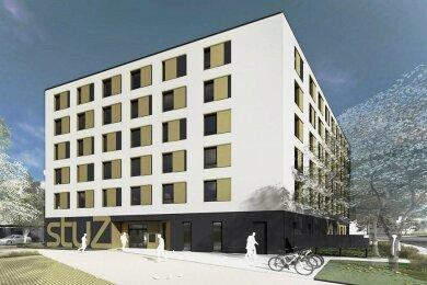 So soll das Wohnheim an der Makarenkostraße einmal aussehen.