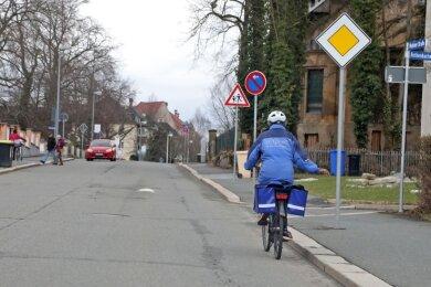 Radfahren in Glauchau wird laut ADFC-Studie oft als gefährlich eingeschätzt.