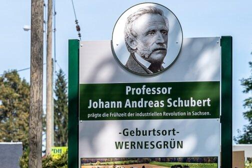 Neues Schild zu Schubert