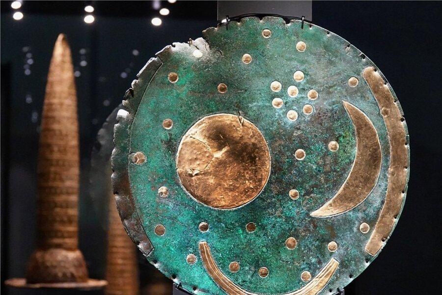 Artefakt aus einer klängst verghangenen Zeit: Die Himmelsscheibe von Nebra.