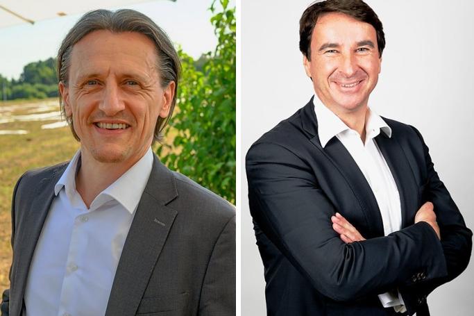 (v. l.) Thomas von Unwerth, Professor für Alternative Fahrzeugantriebean der TU Chemnitz und Frank Löschmann, Ex-VW-Sachsen-Chef und Unternehmensentwickler