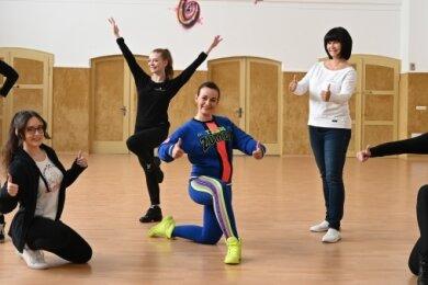 Desiree Gries, Melanie Hösel, Julie Gräßler, Claudia Stettinius, Katrin Rosenkranz und Hanka Kühne (v.l.) freuen sich auf den Neustart.