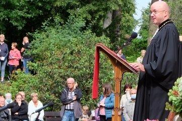 Bischof Tobias Bilz hielt beim Weihegottesdienst die Predigt.