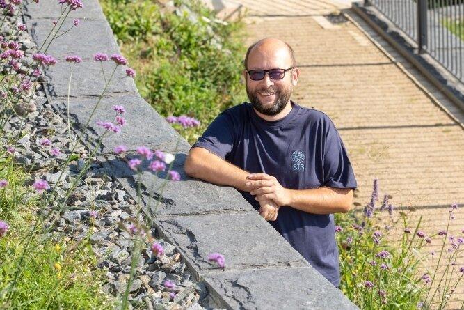 Neuorientierung im Berufsleben: Medienpädagoge André Zühlke wird künftig in Elsterberg Deutsch unterrichten.