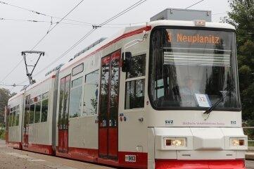 Niederflurstraßenbahn 903 ist wieder in Betrieb.