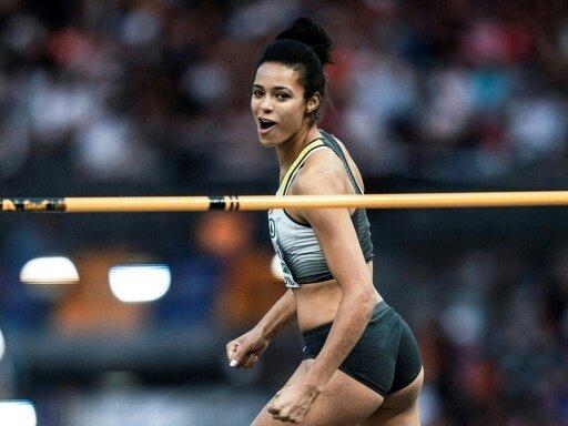 Marie-Laurence Jungfleisch belegt mit 1,88 m Platz drei