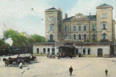 In diesem Vorgängerbau des Zwickauer Hauptbahnhofes ist es im Jahr 1924 zum Mord an einem Zeitungshändler gekommen.