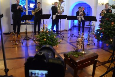 Classic Brass bei der Aufzeichnung im Rodewischer Schlösschen.