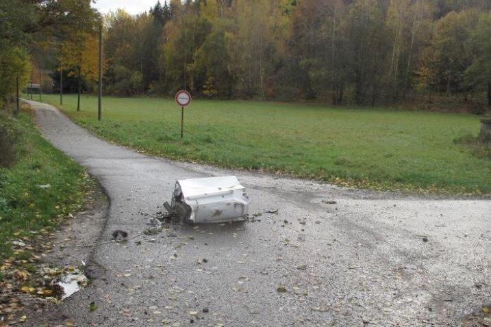 Die Waschmaschine landete direkt auf der Lindenstraße.