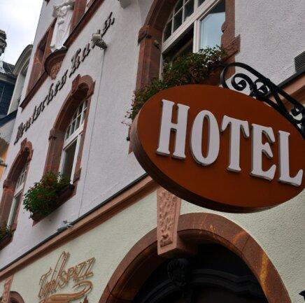 """Das Hotel """"Deutsches Haus"""" in Mittweida ist derzeit im """"Notmodus"""" für Geschäftsreisende geöffnet."""