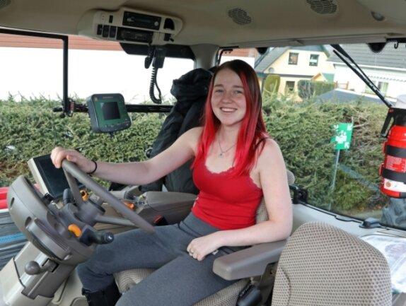 """Melanie Baum nimmt auch an den Protestaktionen der Landwirte von der Initiative """"Land schafft Verbindung"""" teil."""