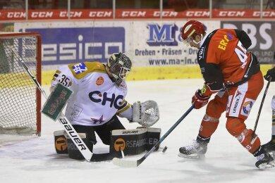 Daniel Weiß erzielt in dieser Szene das 3:1.