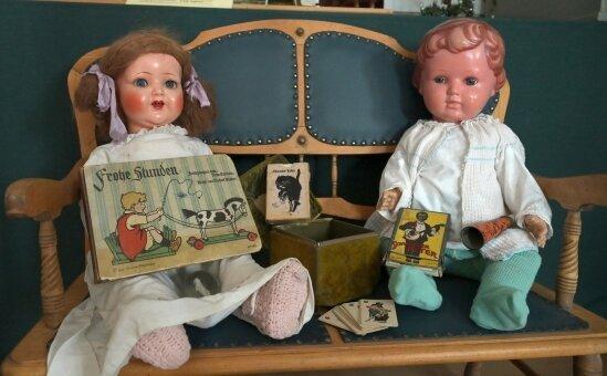 Zahlreiche Puppen bevölkern die Ausstellung im Bürsten- und Heimatmuseum.