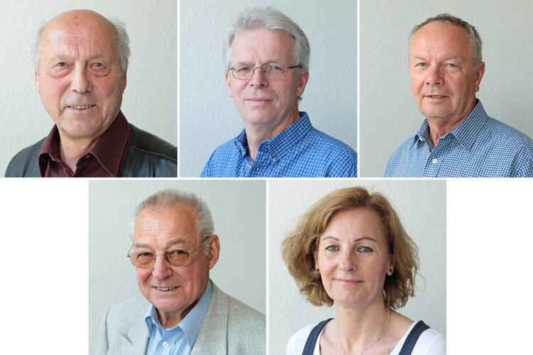 Die Experten: oben: Bernd Lanius, Ulrich Siemer und Hans-Joachim Wierick; unten: Claus Bischoff und Ulrike Hoffmann.