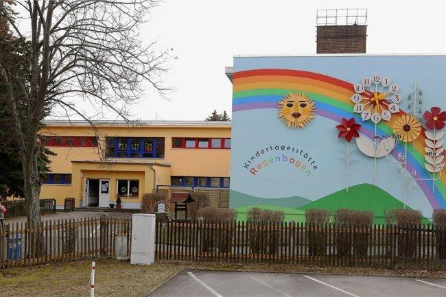 """Die Kita """"Regenbogen"""" an der Ringstraße in Meerane bekommt einen Ersatzanbau."""