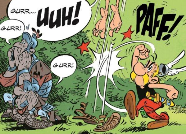 Die Römer, als Brieftauben getarnt? Asterix weiß, wie man unliebsame E-Mails löscht!