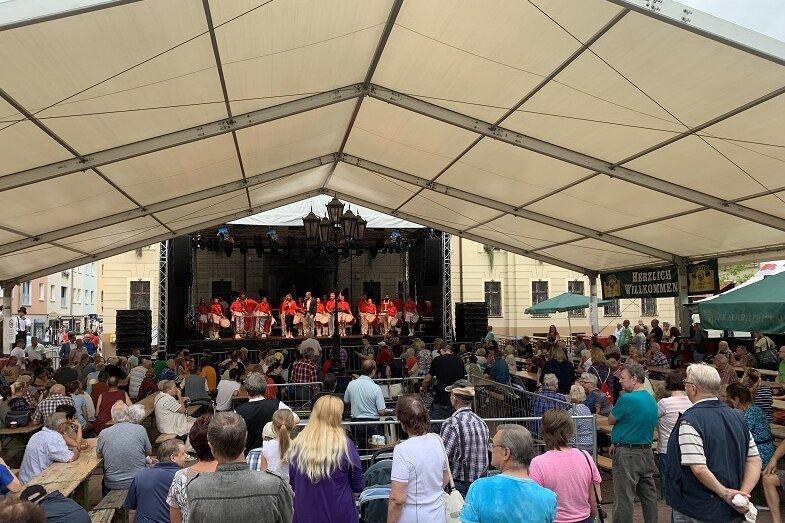 Marktfest in Crimmitschau: Innenstadt ist eine XXL-Partymeile