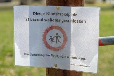 Der Spielplatz in Rodewisch ist zurzeit gesperrt.