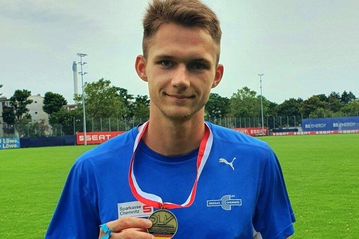 Marvin Schlegel lief über die 400 Meter zum DM-Titel. Der Riechberger träumt von der Teilnahme an den Olympischen Spielen in Tokio.