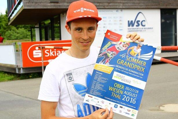 """Eric Frenzel freut sich auf den Auftakt des Sommer Grand Prix in Oberwiesenthal. """"Es ist einer der wenigen Wettkämpfe in der Heimat. Ausnahmsweise müssen Freunde und Familie nicht mit in der Welt herumgurken"""", sagt der 27-jährige Wirtschaftswissenschaftsstudent."""