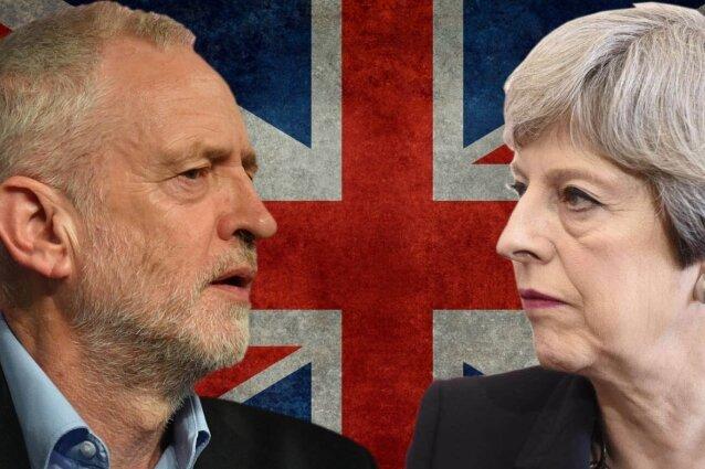 Florian Ranft - Labour-Chef Jeremy Corbyn (links) gegen die konservative Theresa May. Die Premierministerin geht als Favorit in die Wahl.