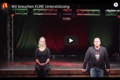 In einem Youtbe-Video wenden sich Projektmanagerin Elisabeth Gehlert und Marcel Hofmann mit einem Hilferuf an das Publikum.