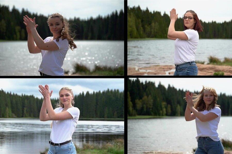 Auszüge aus der Video-Performance des Markneukirchner Gymnasiums zum Projekt Global Water Dances.