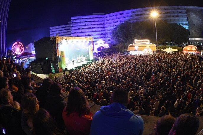 Das Stadtfest 2018 vor dem Abbruch.