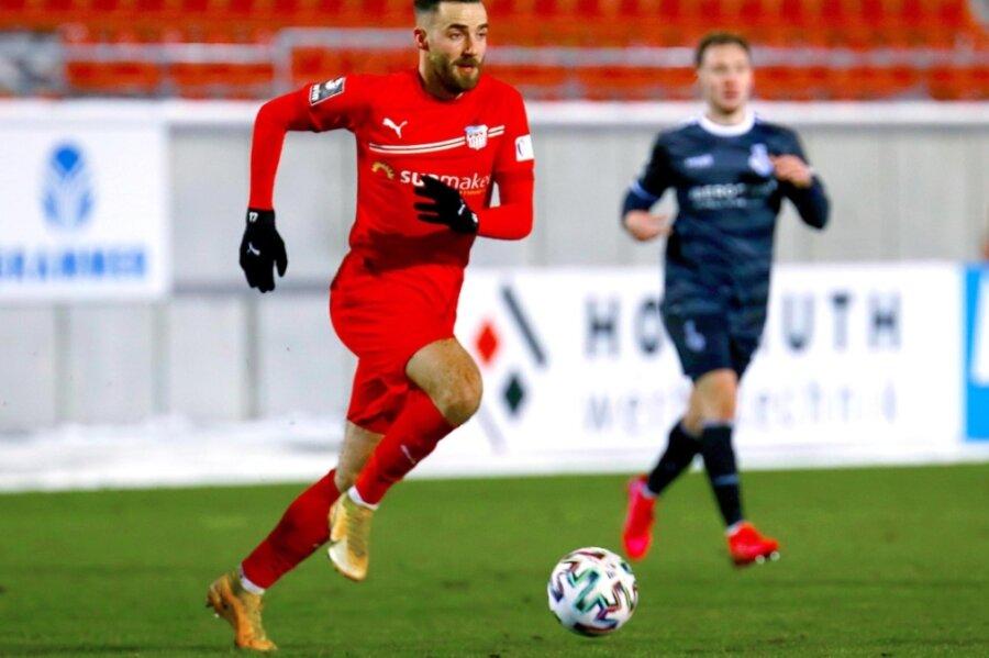 Morris Schröter ist immer mit Zug zum gegnerischen Tor unterwegs. Im Heimspiel gegen den MSV Duisburg gelangen ihm gleich zwei Treffer - erst einer mit rechts und dann ein besonders schöner mit links.