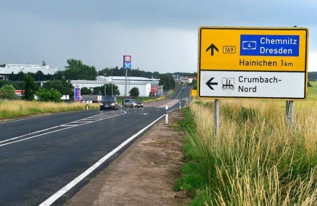 """Im Hainichener Gewerbegebiet """"IGG Crumbach Nord- Teil B"""" ist noch eine rund 10 Hektar große Fläche frei. Damit zählt das Areal zu den Gebieten im Landkreis, die viel Platz für Firmen bieten."""