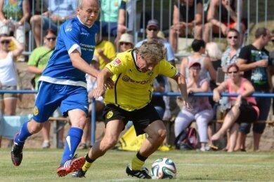 Eine der bedeutsamsten Veranstaltungen in der jüngsten Vereinsgeschichte des SV Fortschritt Lunzenau war im Juli 2014 das Spiel der Traditionself von Borussia Dortmund (gelb/schwarz) gegen die Alt-Herren-Mannschaft des SV Fortschritt Lunzenau, das 3:5 endete. Rund 3500 Zuschauer erlebten dieses Fußballfest.