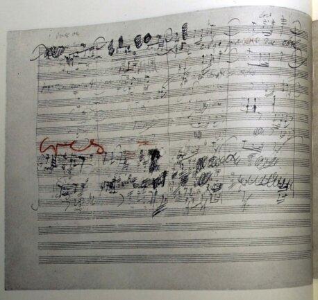 Nur für Spezialisten: Eine Seite aus der Partitur von Ludwig van Beethovens Neunter Sinfonie.