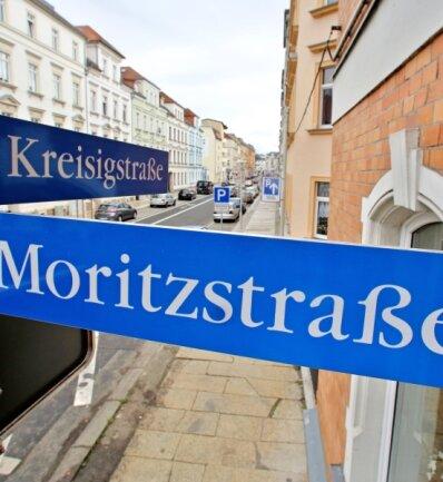 """An der Kreisigstraße traf sich die Zwickauer Neonazi-Szene. Dort unterhielt der später als V-Mann aufgeflogene Ralf Marschner seinen Szene-Laden """"Last Resort""""."""