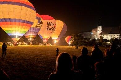 Nur vier Ballons waren bei der Veranstaltung dieses Jahr zugelassen. Dem Publikumszuspruch tat dies jedoch keinen Abbruch.