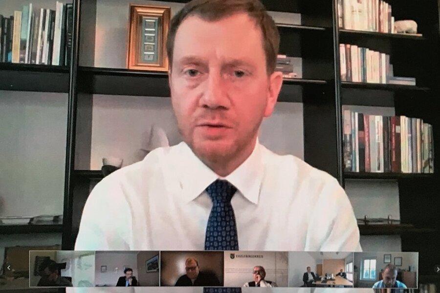 Videokonferenz mit den Bürgermeistern
