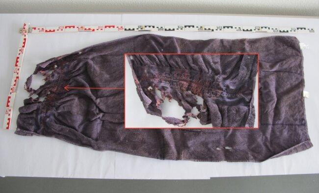 Dieses Handtuch wurde ebenfalls gefunden.
