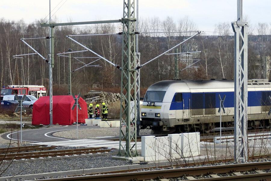 Gefahrguteinsatz bei der Mitteldeutschen Regiobahn in Chemnitz