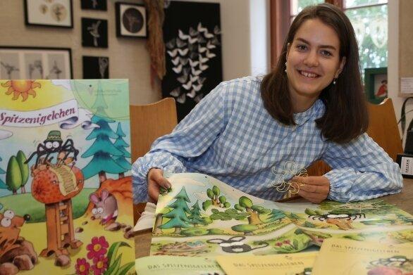 """Anne Schmiedt hat sich während des Freiwilligen Sozialen Jahres dem Buch """"Das Spitzenigelchen"""" verschrieben."""