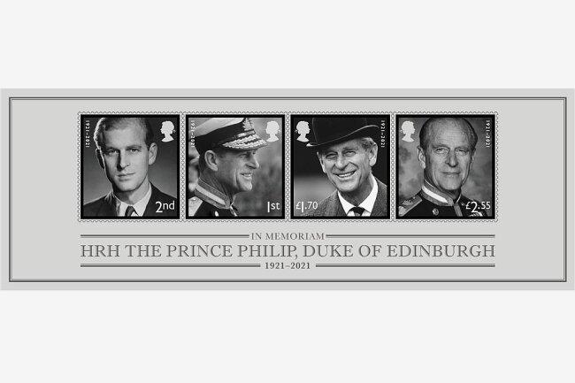 Prinz-Philip-Briefmarken für die royale Ewigkeit.