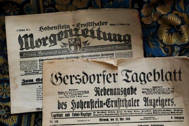 Das Gersdorfer Tageblatt stammt aus dem Jahre 1919.