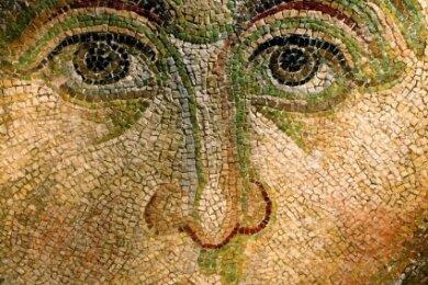 Das Mosaik eines Engels in der Hagia Sophia in Istanbul.