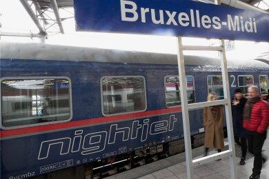 Ein Nachtzug der Österreichischen Bundesbahnen ÖBB steht am Bahnhof Brüssel-Midi. BundesverkehrsministerAndreas Scheuer will das Nachtzugangebot in Europa ausbauen.