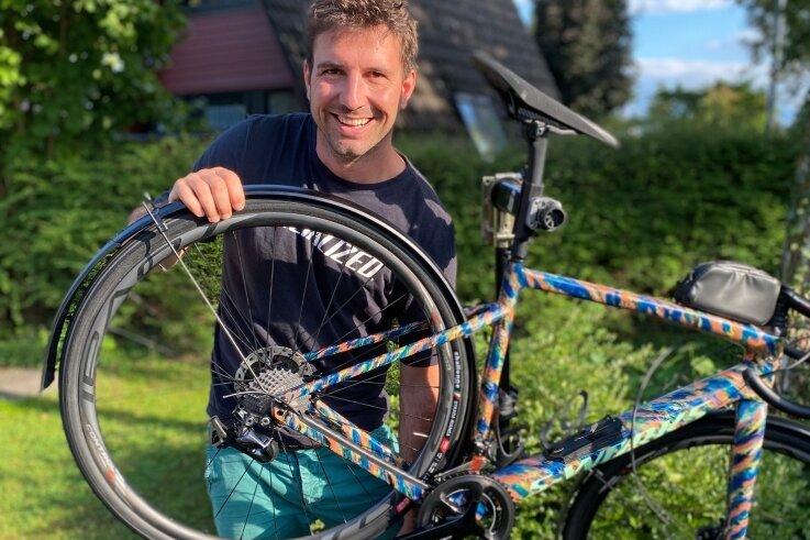 Macht nach wie vor eine sehr gute Figur am und auf dem Rad: Ex-Profi René Birkenfeld. Und auch das Wettkampfgewicht stimmt noch ...
