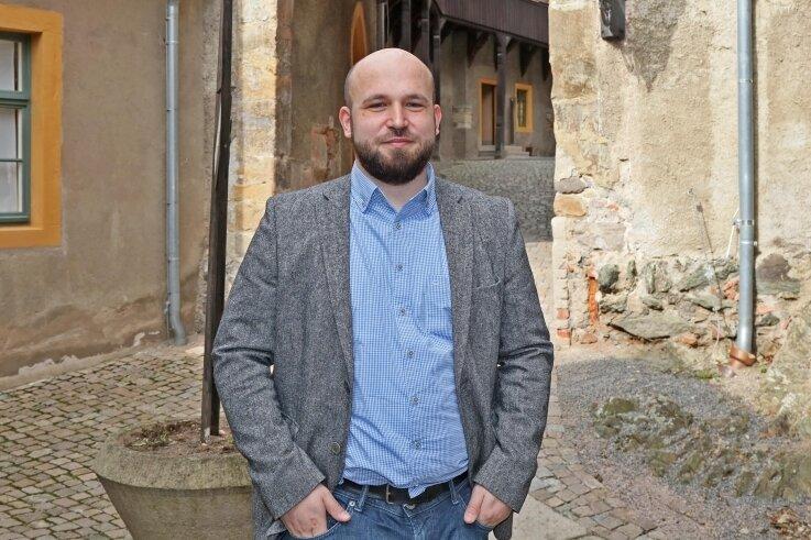Der Historiker Christian Landrock aus Mülsen ist seit diesem Monat der neue Chef auf der Burg Schönfels.