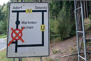 Zwischen dem Markneukirchner Ortsteil Wohlhausen und der Gopplasgrüner Höhe wird die Straße gesperrt.