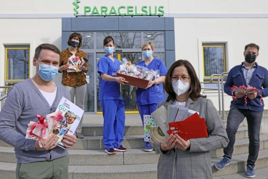Initiative dankt Zwickauer Krankenhäusern mit Ostergeschenken