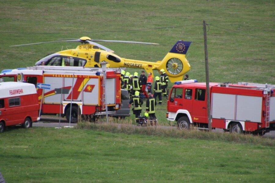 Mittelsachsen: Kletterer abgestürzt - Hubschrauber im Einsatz